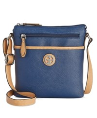 Giani Bernini Saffiano Crossbody Only At Macy's Navy
