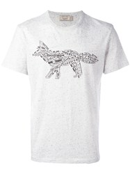 Maison Kitsune Fox Figure T Shirt Grey