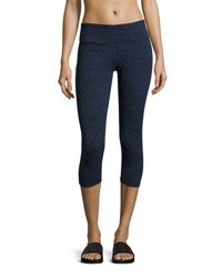 Balance Space Dye Capri Leggings Blue Cosmic Midnight