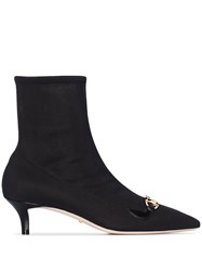 Gucci Black Pointed Toe 45 Stretch Ankle Boots 60