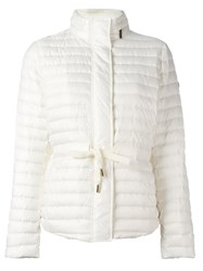 Michael Michael Kors Belted Puffer Jacket Nude And Neutrals