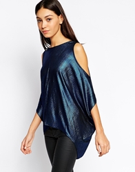 Minimum Sleeveless Chiffon Top Navy