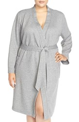 Plus Size Women's Nordstrom Quilted Short Robe Grey Steel Heather