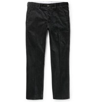 Dunhill Slim Fit Stretch Cotton Corduroy Trousers Midnight Blue