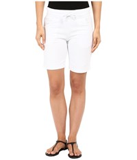 Mod O Doc Lightweight Cashmere French Terry Drawstring Pull On Shorts White Women's Shorts