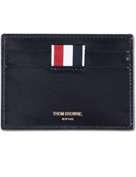 Thom Browne Calf Leather Single Card Holder With Rwb Printed Stripe
