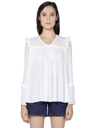 See By Chloe Pleated Techno Crepe Top