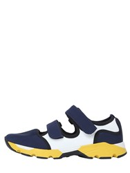 Marni 30Mm Neoprene And Mesh Cutout Sneakers