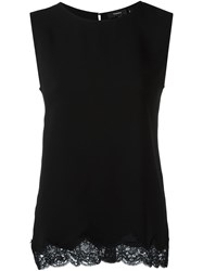 Theory Lace Hem Tank Top Black