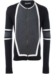 Dolce And Gabbana Panelled Cardigan Black