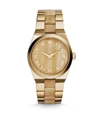 Michael Kors Channing Gold Tone Horn Acetate Watch