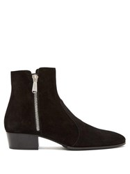 Balmain Anthos Suede Ankle Boots Black