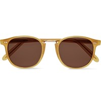 Cutler And Gross D Frame Acetate Sunglasses Saffron