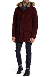 Timberland Scar Ridge Faux Fur Trimmed Waxed Parka Red