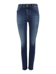 Armani Exchange High Rise Super Skinny Mid Wash Jeans Denim Mid Wash