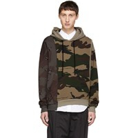 Off White Multicolor Camo Reconstructed Hoodie