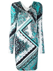 Just Cavalli Paisley Patterned Dress Blue