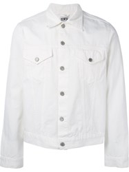 Edwin Button Up Lightweight Jacket White