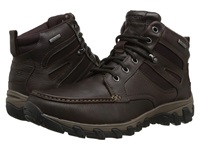 Rockport Cold Springs Plus Mocc Toe Boot High 7 Eyelets Dark Brown Tumbled Leather Men's Boots