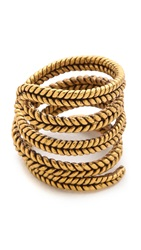 A Peace Treaty Yiizh Spiral Twist Ring Gold