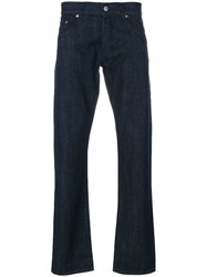Maison Kitsune Regular Trousers Cotton Blue