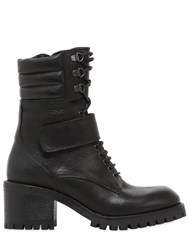 Fru.It 50Mm Lace Up Leather Ankle Boots