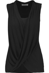 Bailey 44 Paparazzi Draped Stretch Jersey Top Black