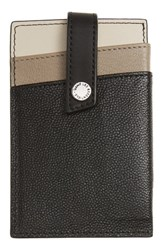 Want Les Essentiels 'S Kenny Money Clip Card Case Metallic Multi Black