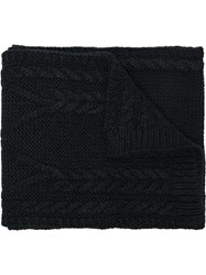 Moncler Woven Wool Scarf Black