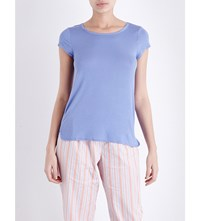 Calvin Klein Modal Jersey Pyjama Top 1Up Lupine Blue