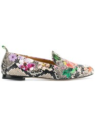 Anna F. Snakeskin Loafers Multicolour