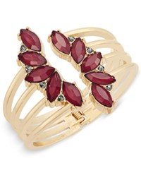 Inc International Concepts Gold Tone Crystal Leaf Cuff Bracelet Only At Macy's
