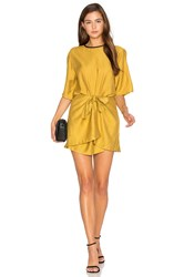 Pfeiffer Abel Wrap Mini Dress Mustard