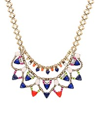 Sparkling Sage Layered Mixed Triangle Stone Statement Necklace Compare At 147 Burnished Gold Multi