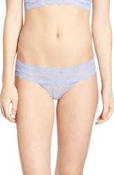 B.Tempt'd Women's By Wacoal 'Lace Kiss' Thong Very Violet