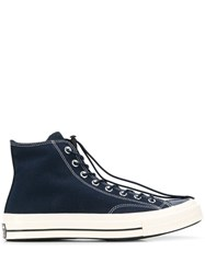 Converse Drawstring Lace Chuck Taylor Sneakers Blue