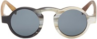 Rigards Black And White Round Horn Sunglasses