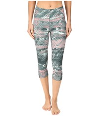 The North Face Motus Capri Tights Ii Balsam Green Reptile Print Women's Capri Multi