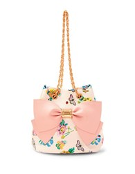 Betsey Johnson Hopelessly Romantic Bucket Bag White Floral