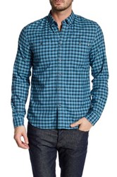 Timberland Long Sleeve Oxford Button Down Slim Fit Shirt Blue