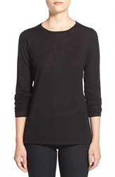 Nordstrom Lightweight Cashmere Crewneck Sweater Black