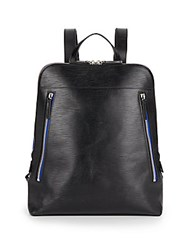Ben Minkoff Samsen Embossed Leather Backpack Black