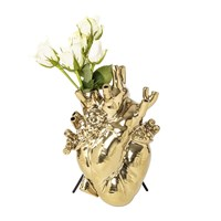 Seletti Love In Bloom Gold Edition Heart Vase