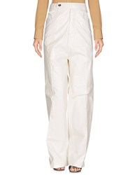 Rick Owens Drkshdw By Casual Pants Ivory
