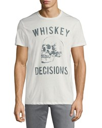 Chaser Whiskey Decisions Skull Crewneck Short Sleeve Jersey Tee White