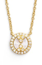 Women's Freida Rothman 'Visionary' Pendant Necklace Gold Mother Of Pearl