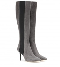 Jimmy Choo Faith Suede Knee High Boots Grey