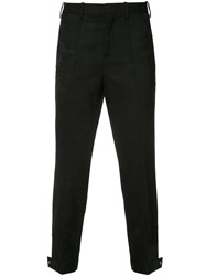 Neil Barrett Tapered Button Ankle Tousers Black