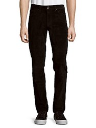Saks Fifth Avenue Black Straight Leg Cord Pants Black