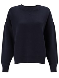John Lewis Kin By Compact Cotton Jumper Navy